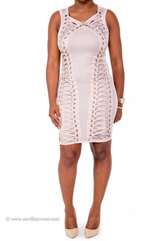"""Laced Up"" Perfect Fit Dress"