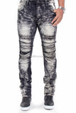 Flex Stretch Distressed Denim Jeans by Smoke Rise (Smoke)
