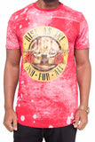 Guns and Roses Paint Splatter Concert Tour Shirt (Red)