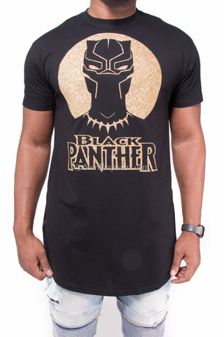 Black Panther Custom Designed Extended Zipper Side Shirt