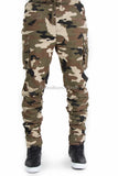 Stretch Slim Fit Cargo Jogger Pants with Shrirring Bottom