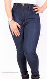 High Waist Perfect Fit Dark Indigo Skinny Denim