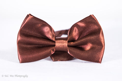 Chocolate Brown Formal Dress Fancy Bow Tie