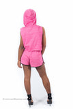 #1 Hooded Short set (Pink)
