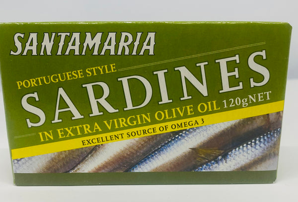 Santamaria Sardines in Extra Virgin Olive Oil 120g