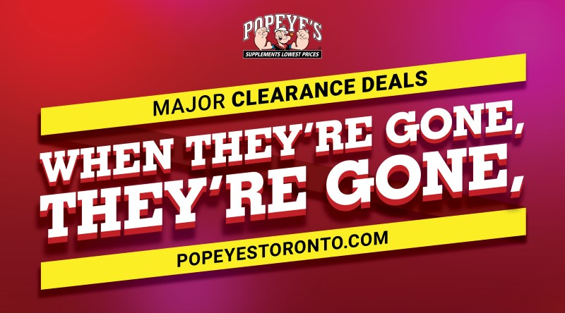 Popeye's Supplements Clearance Deals