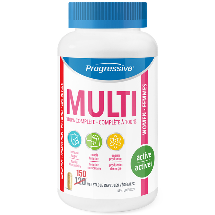 Progressive Multi Active Women 150 Caps