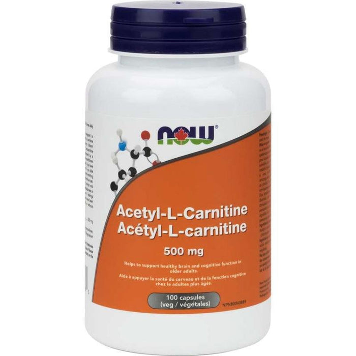 NOW Acetyl L-Carnitine 500mg 100 caps - Popeye's Toronto