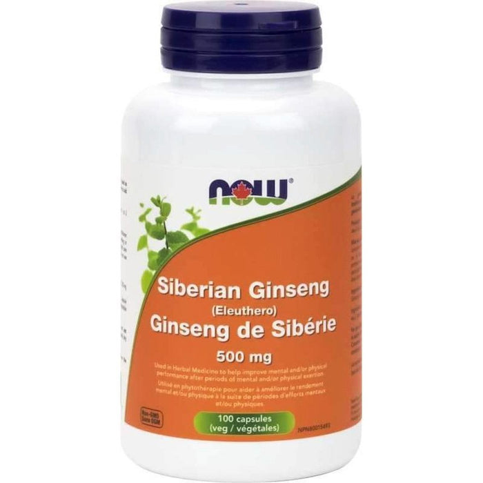 NOW Siberian Ginseng 500mg 100 caps - Popeye's Toronto