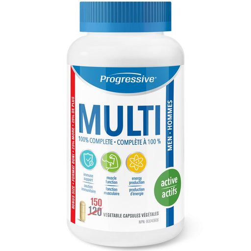 Progressive Multi Active Men 150 Caps - Popeye's Toronto