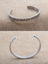 Load image into Gallery viewer, Daughter in Law Bangle Bracelet Wishes Gift Our Son Picked You and We Did Too- Perfect Gift for Daughter in Laws - Gift For Bridal Shower Or Birthday