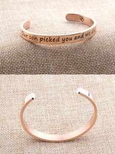 Daughter in Law Bangle Bracelet Wishes Gift Our Son Picked You and We Did Too- Perfect Gift for Daughter in Laws - Gift For Bridal Shower Or Birthday