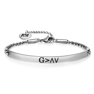 Inspirational God is Greater Than The Highs And Lows Bracelet Religious Gift