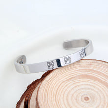 Load image into Gallery viewer, Owl Cuff Bracelet Bangle Engraved Message Bracelet Inspirational Gift to Friends