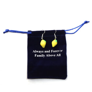 Always and Forever Family Above All Tiny Pineapple Earrings Funny Fruits Jewelry Women Christmas Gift