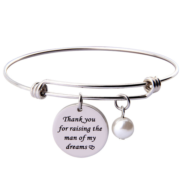 Thank You for Raising the Man of My Dream I Will Take Care of Her Always Bracelet Set Gift for Mother in Law