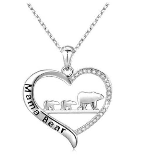 Mama Bear Necklace Perfect Gift for Wife and Mom Mother's Day gift