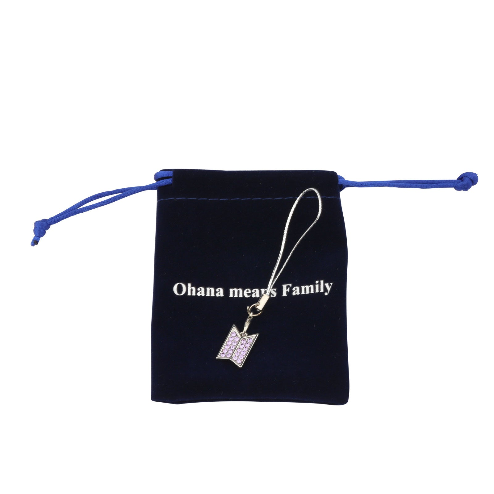 Ohana Means Family Womens Silver Plated Charm