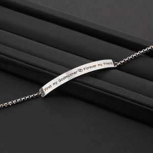 Christmas Gift For Godmother First my Godmother, Forever my FriendBracelet, Inspiration Women Jewelry