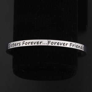 Sisters Forever Cuff Bracelet Forever Friend Bangle Friendship Gift