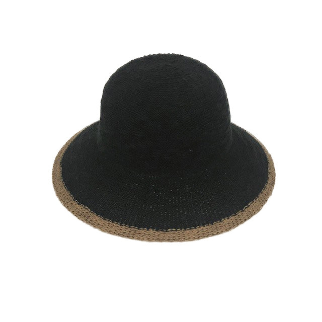 Cotton Hat with Black Trim - Lily Brooklyn