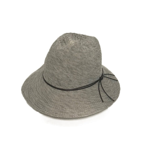 Cotton Blend Fedora with Tie - Lily Brooklyn