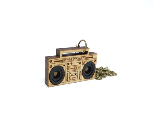 3D Boombox Necklace - Lily Brooklyn