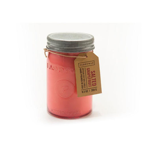 Paddywax Relish Jar Candle 9.5 oz. Salted Grapefruit - Lily Brooklyn