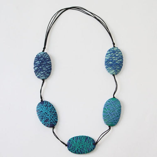 Felicity Necklace Blue - Lily Brooklyn