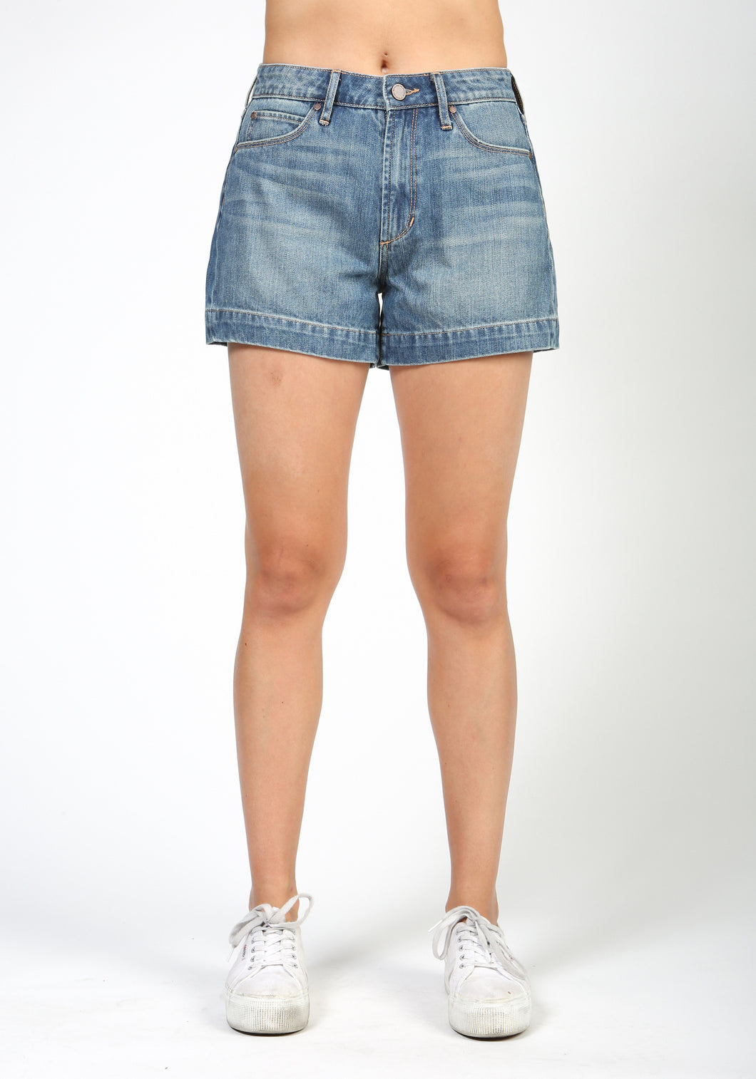 Ziggy High Rise Denim Short Marco Wash - Lily Brooklyn