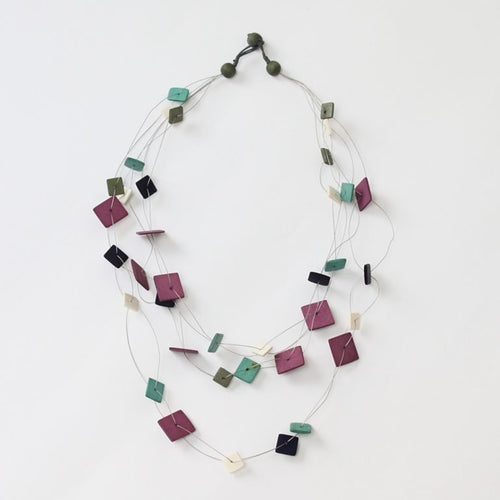 Elisa Necklace Lilac Multi - Lily Brooklyn