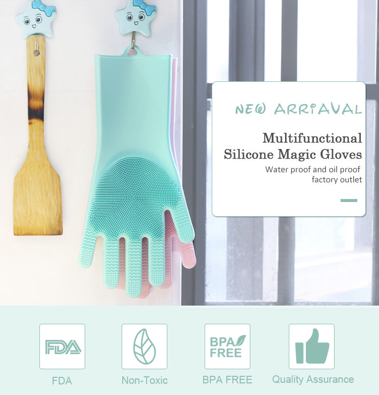 Kitchen Dishwasher Gloves Silicone - True Door