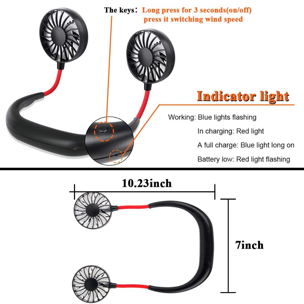 Portable Neckband Fan USB - Cool Summer Sports