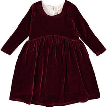 "Load image into Gallery viewer, Vignette ""Charlotte"" Burgundy Velvet Dress : Sizes 2 - 8"