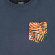 Load image into Gallery viewer, Nukutavake Navy Blue & Orange Palm Tee : Sizes 8 to 18