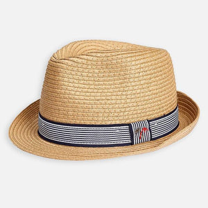 Mayoral Straw Fedora Hat : Sizes 8 to 14 (hat sizes 51 to 58)