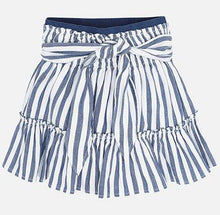 Load image into Gallery viewer, Mayoral Blue Striped Skirt : Sizes 2 to 9