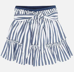 Mayoral Blue Striped Skirt : Sizes 2 to 9