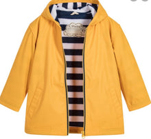 Load image into Gallery viewer, Hatley Yellow With Navy Stripe Lining Splash Jacket