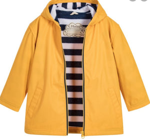 Hatley Yellow With Navy Stripe Lining Splash Jacket