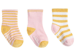 Robeez  Kick Proof Stay On Socks for Girls  Packs of 3:  5 STYLES