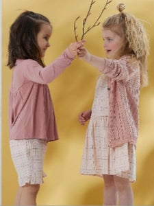 Enfant Girls Pink and Rose Gold Plaid Cotton Dress : Sizes 2 to 8