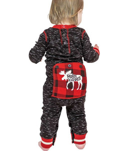Lazy Ones Moose Caboose Baby Christmas Pajamas : Size 6m to 18m