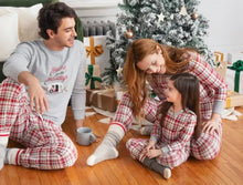 Load image into Gallery viewer, Petit Lem Plaid Childrens Christmas  Pajamas : Sizes 8 to 14
