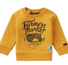 Load image into Gallery viewer, Noppies Baby Boy 'Farmers Market' Sweatshirt in Gold : Size NB to 18m