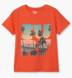 Hatley Boys Surf Graphic Tee in Orange : Sizes 2 to 8