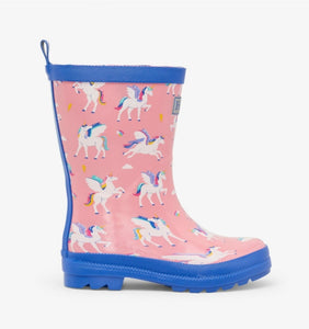 Hatley Girls Magical Pegasus Rain Boots: Sizes C4 to Y3