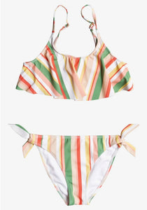 Roxy Striped Flutter Bikini