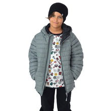 Load image into Gallery viewer, Nano Puffer Jacket in Grey/Black : Sizes 12M to 14