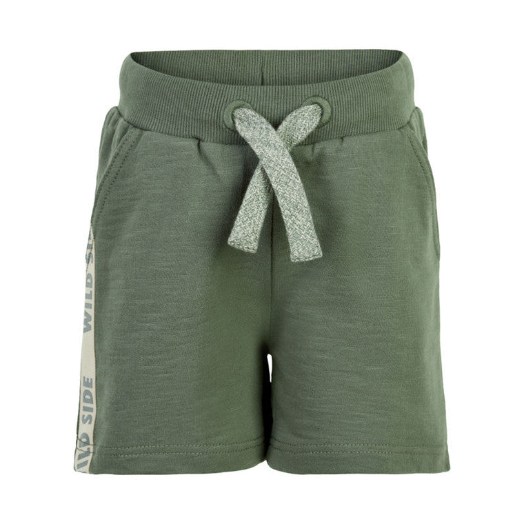 Minymo Boys Cotton Shorts in Olive Green : Sizes 3 to 10